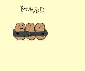 Beans wearing a Coat