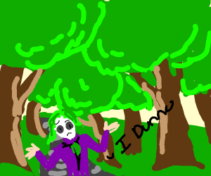 Confused Joker in a Forest