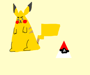 Triangle Pikachu w/ PokéTriangle