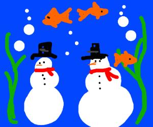 Underwater snowmen