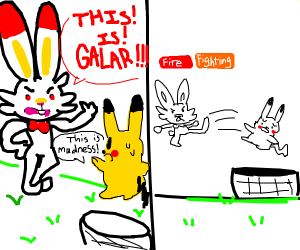 THIS IS GALAR! (Pikachu kicked in hole)