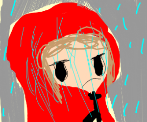 red riding hood wet