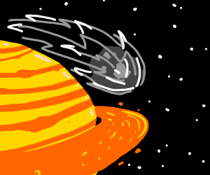 Meteoroid narrowly misses Saturn