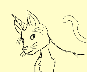 A unicorn cat