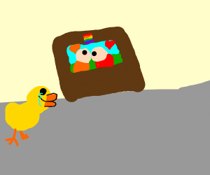 duck cries tears of joy at gay puppet show