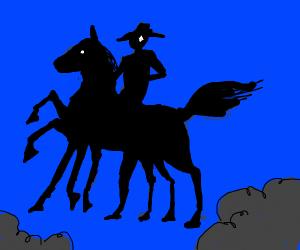 God rides a horse