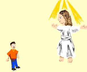 man sees jesus