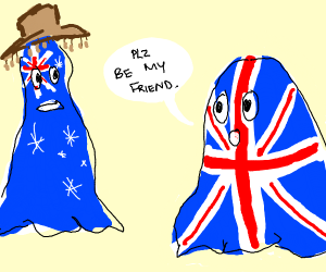 uk ghost trying to be friends with Aus