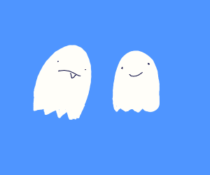 Two derpy ghost