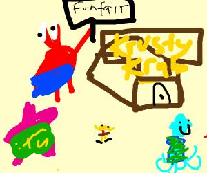 Advertising Krusty Krab Funfair