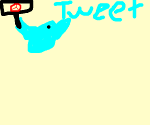 pacifist twitter bird