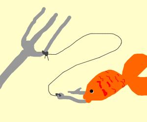Fork fishing