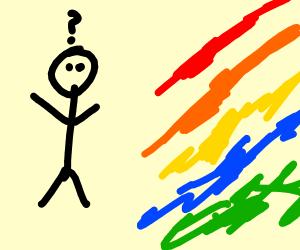 A man looking at colors