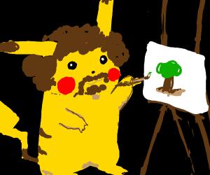 Pikachu is Bob Ross