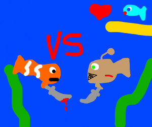 Fishes fight to the death for their love