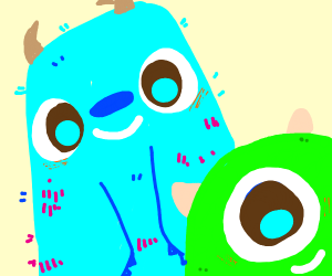 Mike Wazowski and Sully from Monsters Inc