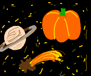 planet pumpkin is close to saturn
