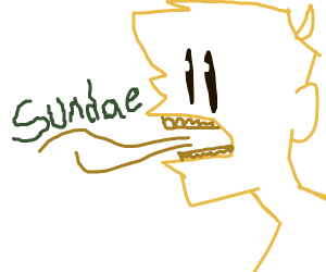 Yellow guy with bad breath