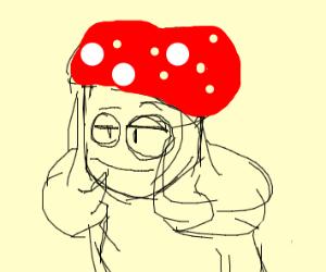 Mushroom with Glasses