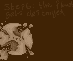 Step 5: the planet gets invaded by meteors