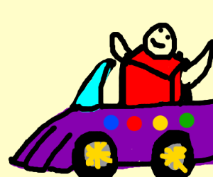 Thanos car and the new kanye song