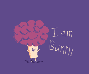 Purple Haired broccoli Bunni