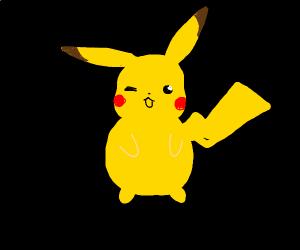 buff pikachu is flexing