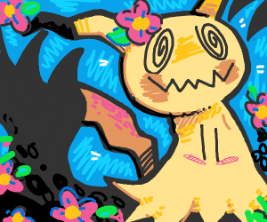 Mimikyu in a jungle