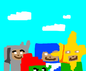 Me and The Boys playing Minecraft