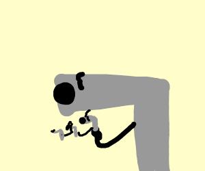 a gun shooting with a gun