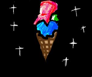 Perfect ice cream cone