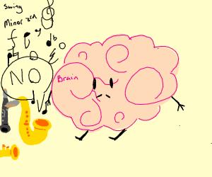 Jazz says no to brain