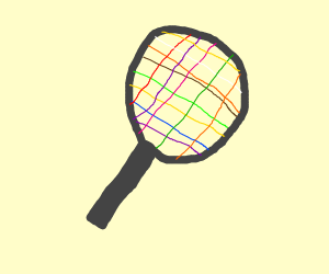 Colorful Tennis Racket