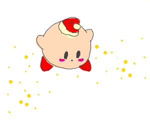 Kirby with a Santa Hat