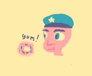 Cops eating donuts