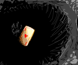 Ace of Hearts falls into the abyss