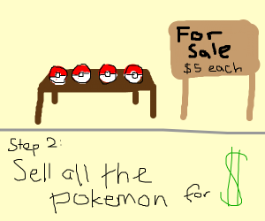 Step 1: catch all the pokemon