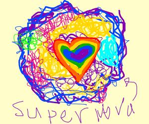 Rainbow Heart Supernova
