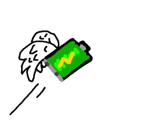 Flying battery