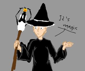 Wizard with a portal gun