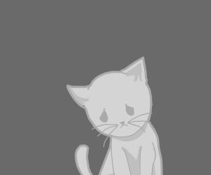 Sad catto :((