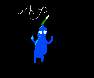 blue pikmin question why hes blue