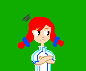 annoyed wendy's mascot