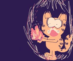 Garfield has a fire superpower