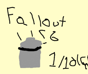 Fallout 76 in the trash w/ IGN rating of 1/10