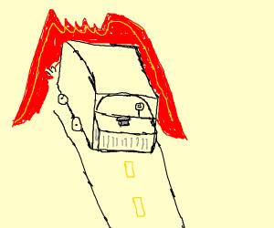 Truck in a Fire