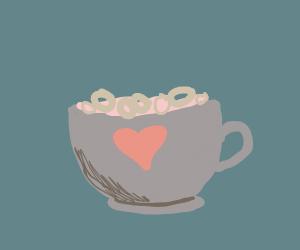 Fruit Loops in a grey mug