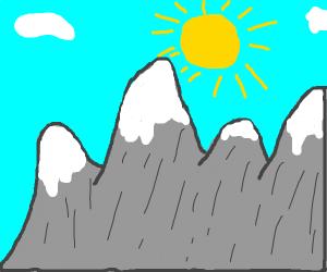 sun above all mountains