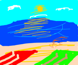 beautiful day on beach