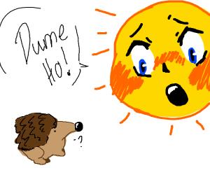Anime sun calls hedgehog a dume ho